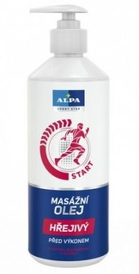 ALPA masážny olej hrejivý 1x500 ml