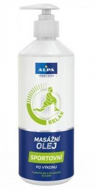 ALPA masážny olej športový 1x500 ml