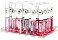APOTHEKE Briliantový lesk na pery s panthenolom a vitamínmi, stojan rôzne farby 1x24 ks