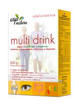 asp MULTI DRINK NÁPOJ s bioaktívnym kolagénom, práškový 1x200 g