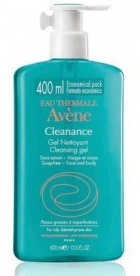 AVENE CLEANANCE GEL NETTOYANT čistiaci gél bez mydla pre mastnú aknóznu pleť 1x400 ml