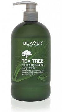 BEAVER TEA TREE BODY WASH osviežujúci sprchový gél s čajovníkovým olejom 1x600 ml