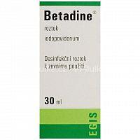 Betadine dezinfekčný roztok 100 mg/ml sol der 1x30 ml