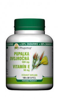 BIO Pharma Pupalka dvojročná 500 mg Vit. E 50 mg cps 100+30