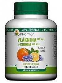 BIO Pharma Vláknina 600 mg Chróm 200 µg tbl 90+30