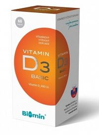BIOMIN VITAMIN D3 cps 400 I.U. 1x60 ks