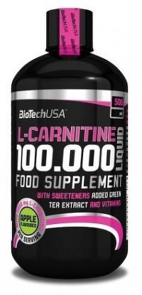 BiotechUSA L Carnitine Liquid 10000mg L Carnitine Liquid mg (A) 500 ml +500 ml čerešňa