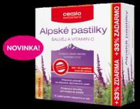 Cemio Alpské pastilky ŠALVIA A VITAMÍN C pastilky 30+10