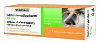 Cetirizin-ratiopharm 10 mg tbl flm 1x7 ks