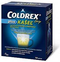 COLDREX Grip plus KAŠEĽ príchuť citrón a mentol plo por 500 mg/200 mg/10 mg 1x10 ks