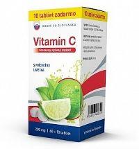 Dobré z SK Vitamín C 200 mg príchuť LIMETKA tbl 60+10 zadarmo