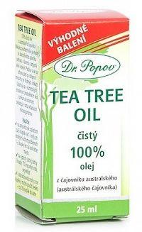 DR. POPOV TEA TREE OIL čistý 100% olej z čajovníka austrálskeho 1x25 ml