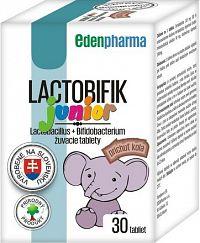 EDENPharma LACTOBIFIK junior žuvacie tablety, príchuť kola 1x30 ks