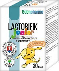 EDENPharma LACTOBIFIK junior žuvacie tablety, príchuť pomaranč 1x30 ks