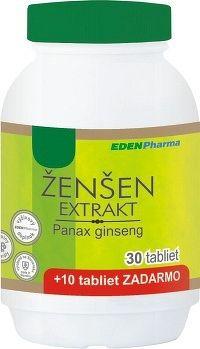 EDENPharma ŽENŠEN extrakt tbl 30+10 zadarmo