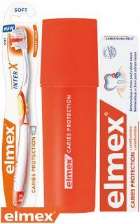 ELMEX CARIES PROTECTION SADA zubná pasta 75 ml + zubná kefka 1 ks + puzdro ZDARMA, 1x1 set
