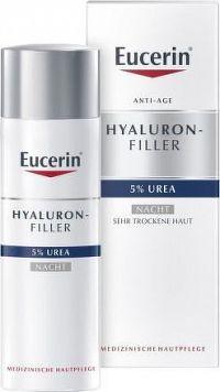 Eucerin HYAL-UREA nočný krém proti vráskam pre suchú pleť 1x50 ml