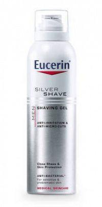 Eucerin MEN SILVER SHAVE gél na holenie pre mužov 1x150 ml