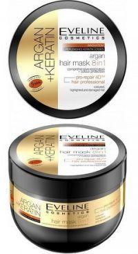 Eveline Cosmetics Argan + Keratin - maska na vlasy 8v1 300 ml