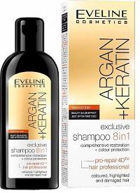 Eveline Cosmetics Argan + Keratin - šampon na vlasy 8v1 150 ml