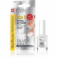 Eveline Cosmetics Spa Nail Total 8v1 Silver 12 ml
