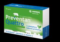 FARMAX Preventan Quattro + vitamín C tbl 1x12 ks