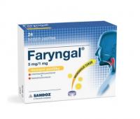 Faryngal 5 mg/1 mg lisované pastilky pas ocp 5 mg/1 mg 1x24 ks