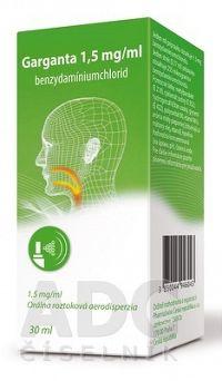 Garganta 1 5 mg/ml aer ors 150 dávok 1x30 ml
