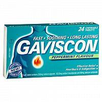 GAVISCON žuvacie tablety tbl mnd 1x24 ks
