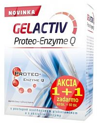 GELACTIV Proteo-Enzyme Q Akcia 1+1 tbl 60+60 zadarmo