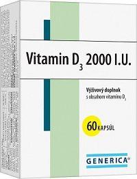 GENERICA Vitamin D3 2000 I.U. cps 1x60 ks