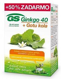 GS Ginkgo 40 + Gotu kola tbl 80+40 zadarmo