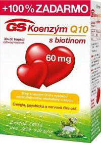 GS Koenzým Q10 60 mg cps 30+30 zadarmo