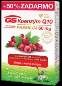 GS Koenzým Q10 60 mg PREMIUM cps 30+15