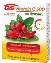 GS Vitamín C 500 so šípkami 2016 tbl 1x30 ks