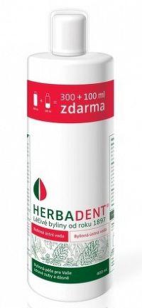 HERBADENT Bylinná ústna voda 300 + 100 ml zdarma