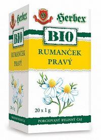 HERBEX BIO TEA RUMANČEK PRAVY bylinný čaj 20x1 g