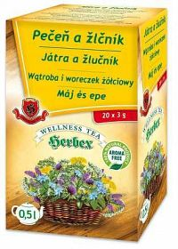 HERBEX PEČEŇ A ŽLČNÍK bylinný čaj 20x3 g
