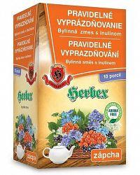 HERBEX PRAVIDELNÉ VYPRÁZDŇOVANIE bylinná zmes s inulínom vrecká