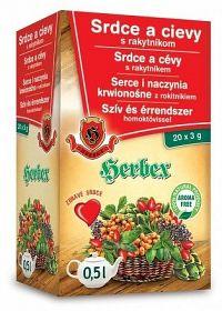 HERBEX Srdce a cievy s rakytníkom bylinný čaj20x3 g