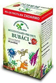 HerbVitea BUBÁCI MULTIVITAMÍN pre deti pastilky jahodová aróma