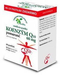 HerbVitea KOENZÝM Q10 60 mg cmúľacie pastilky pomarančová aróma
