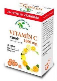 HerbVitea VITAMÍN C 1000 mg zinok tbl