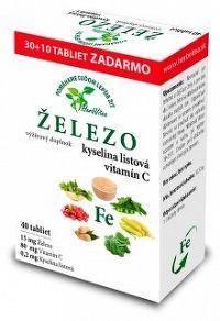 HerbVitea ŽELEZO kyselina listová vitamín C tbl