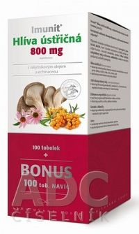 Imunit HLIVA ustricová 800 mg s rakytník. a echin. cps 100+100 naviac 1x200 ks