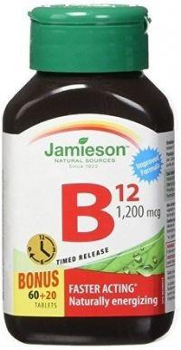 J - Vitamín B12 1200mcg 60+20tbl. predĺžený účinok
