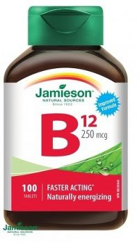 J - Vitamín B12 250mcg 100tbl.