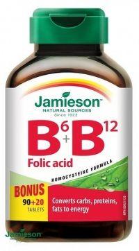 J - Vitamín B6&B12&Folic Acid Bonus 90+20tbl