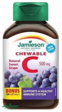 J - Vitamín C 500mg Hrozno 120tbl