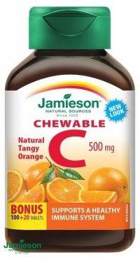 J - Vitamín C 500mg pomaranč 120tbl